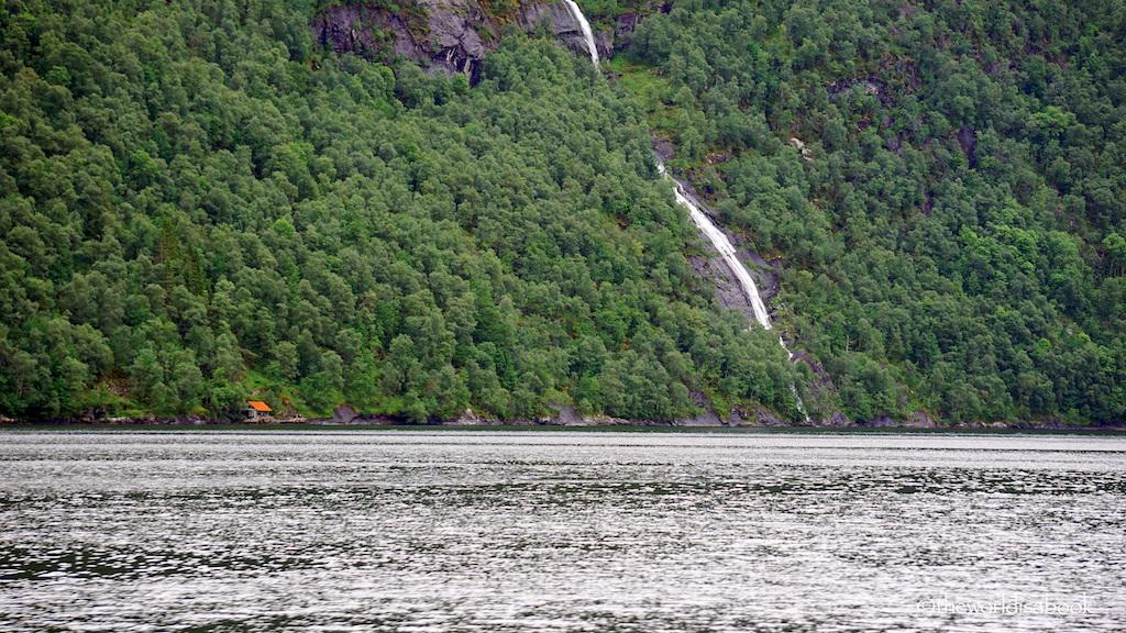 norway fjord waterfall