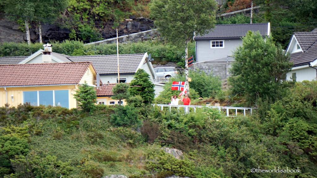 norwegians waving flag