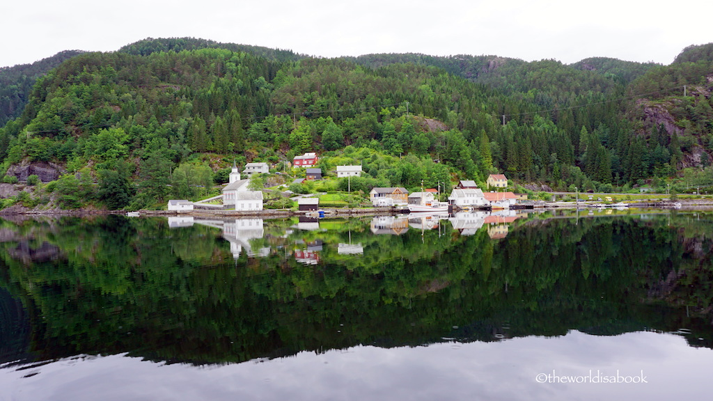 Ostefjord village Norway