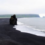 Walking Reynisfjara Black Sand Beach in Iceland
