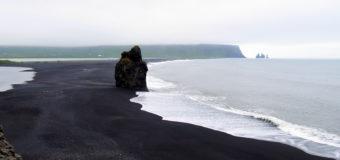 Walking Reynisfjara Black Sand Beach in Iceland