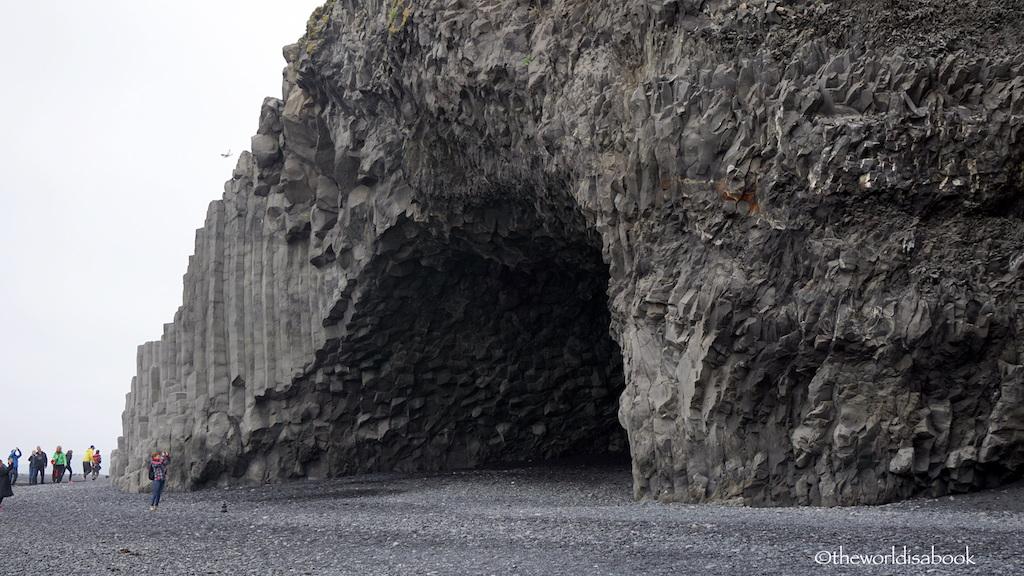 reynisfjara beach basalt column-cave
