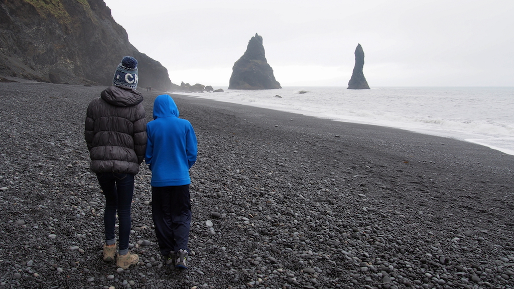 Reynisfjara with kids Iceland