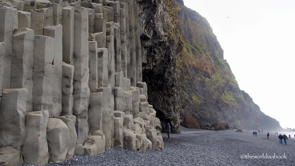 Basalt Columns Iceland : Walking reynisfjara black sand beach in iceland the