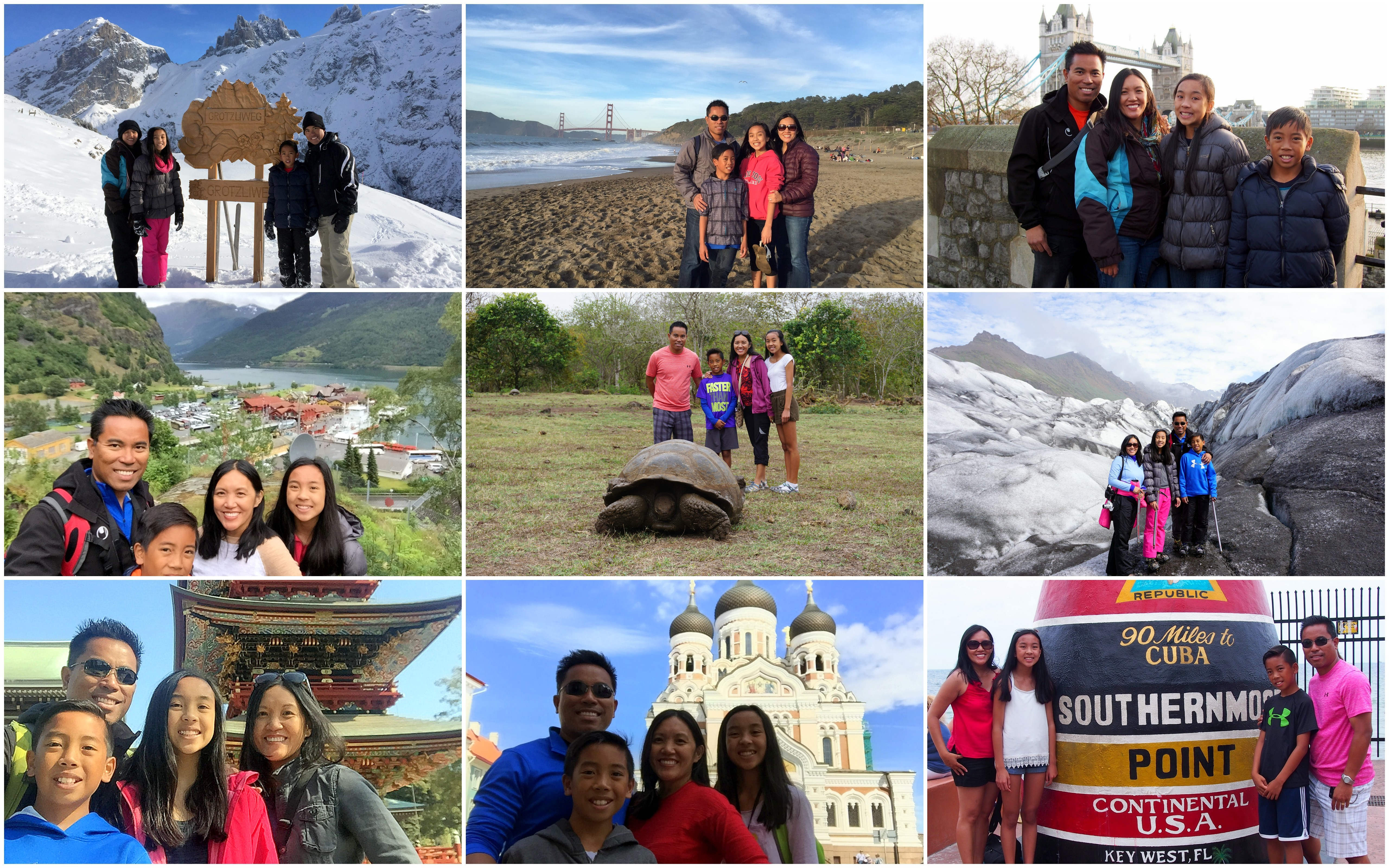 family travels 2016