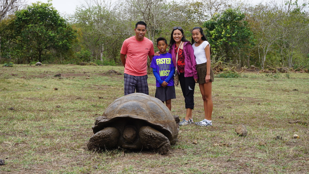 Galapagos Giant Tortoise with kids