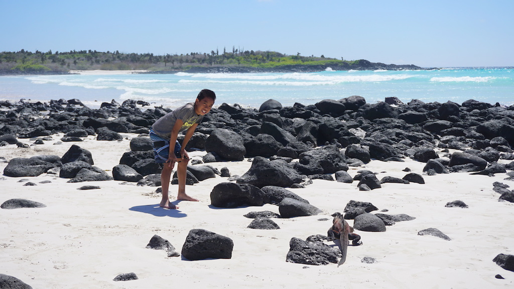 Galapagos Tortuga Bay with kids
