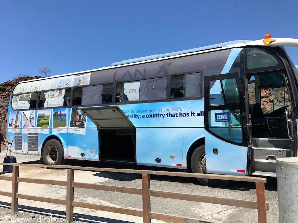 Galapagos Baltra airport bus