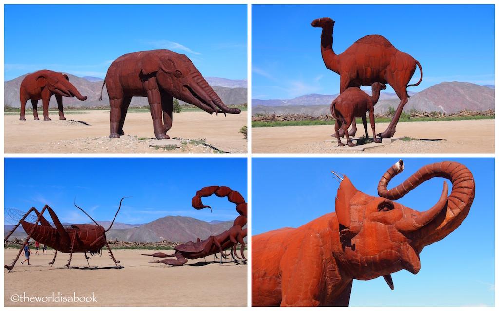 Borrego Springs animal metal art