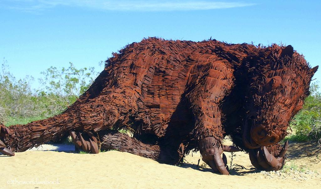 Giant sloth metal art Borrego Springs