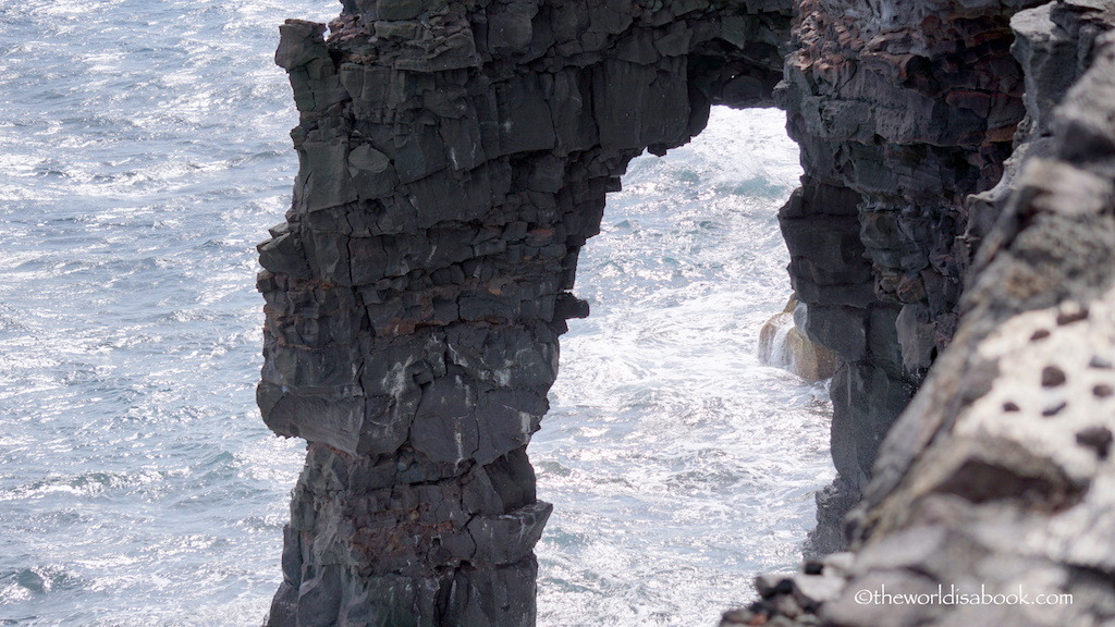 Holei sea arch close up