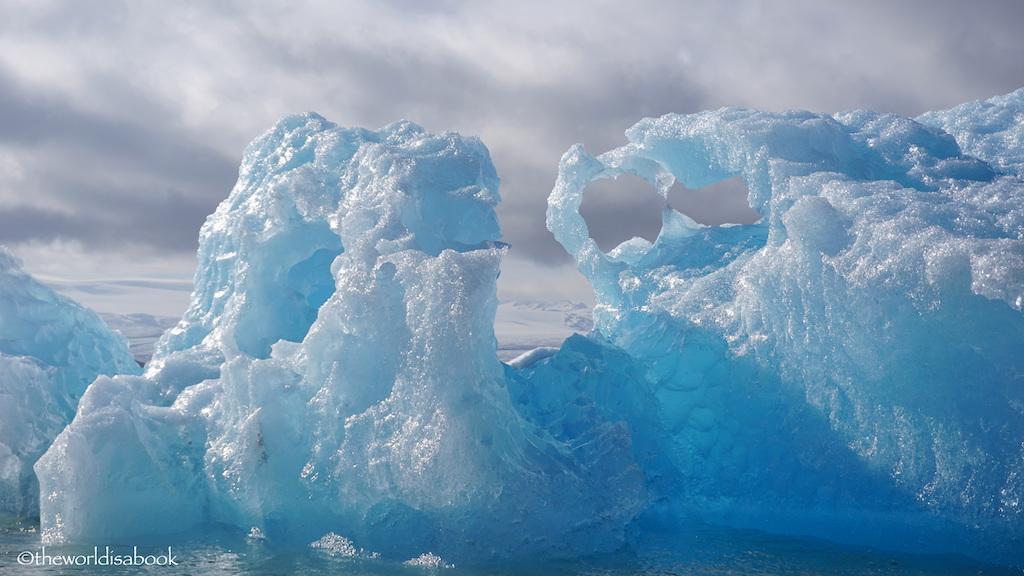 Jokulsarlon Glacier lagoon blue ice