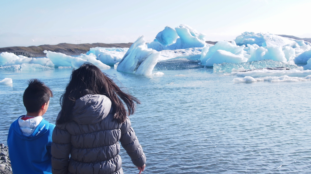 Jokulsarlon Glacier Lagoon with kids