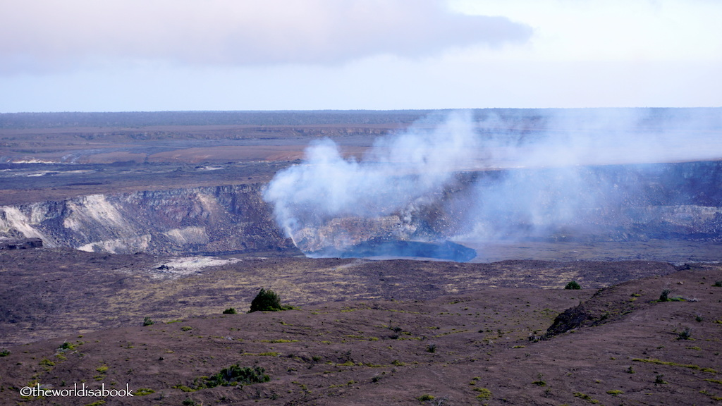 Kilauea crater Volcanoes National Park