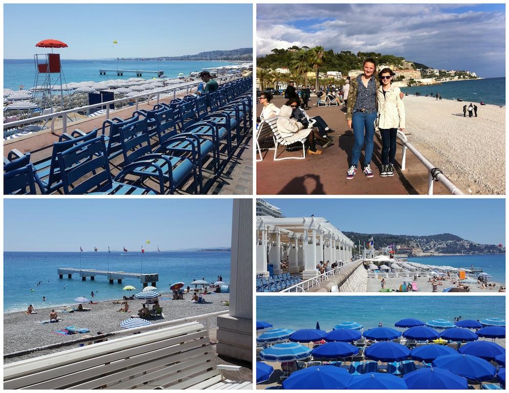 Promenade des Anglais beach Nice