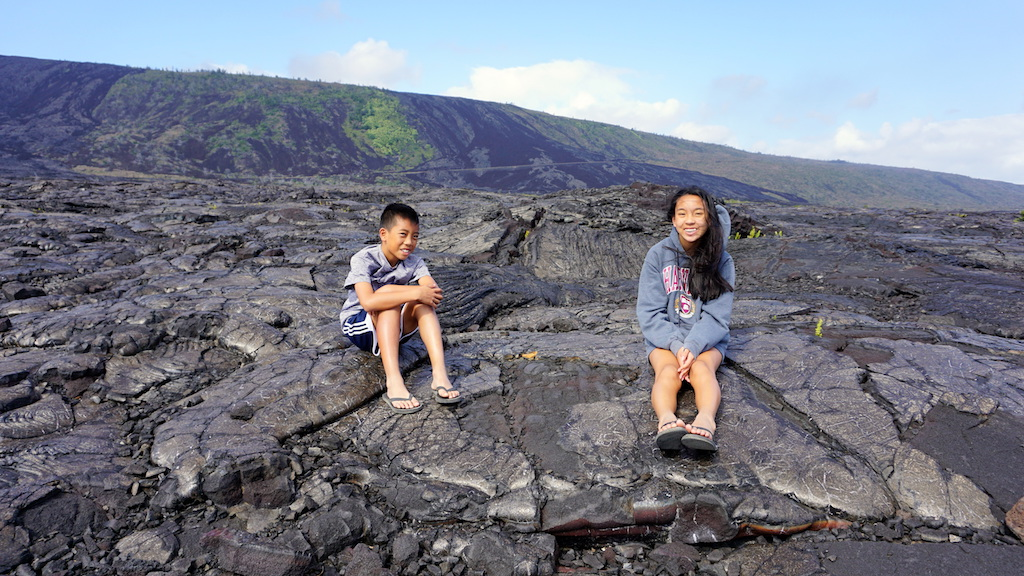 Volcanoes National Park with kids