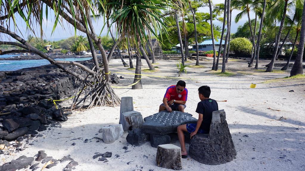 Puʻuhonua o Hōnaunau National Historical Park with kids