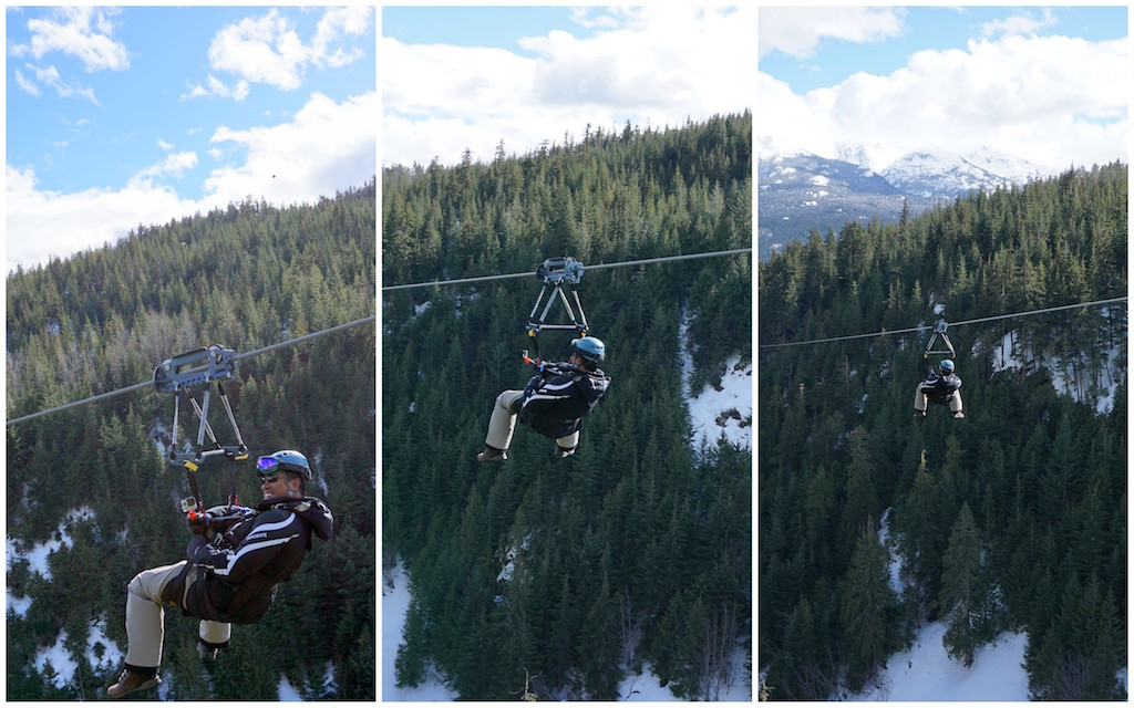 Superfly tandem ZIp line Whistler