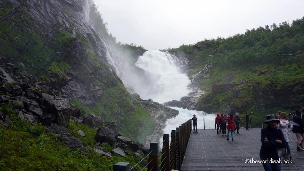 Kjosfossen Flam Railway waterfall stop