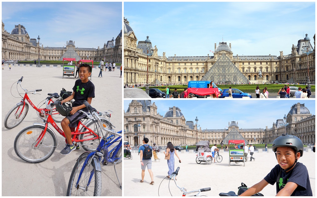 Paris Fat Tire Bike Tour with kids Louvre