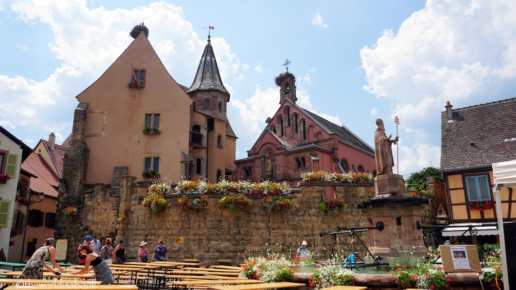 Eguisheim Saint Leon Square and chapel