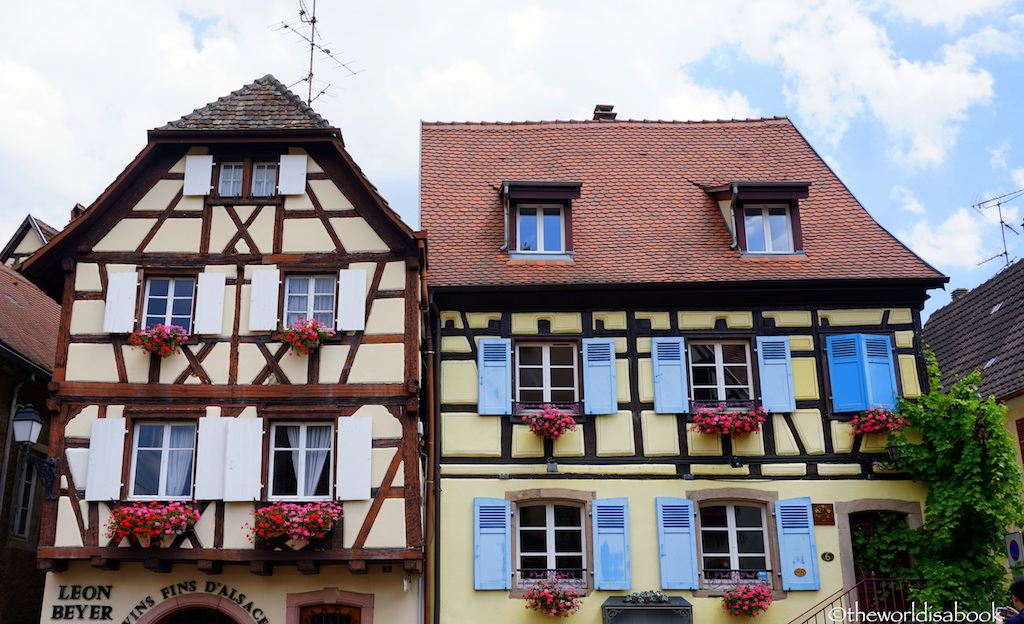 Eguisheim houses Alsace France
