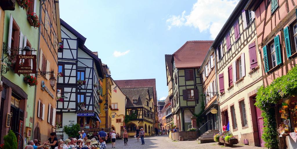 Riquewihr colorful street