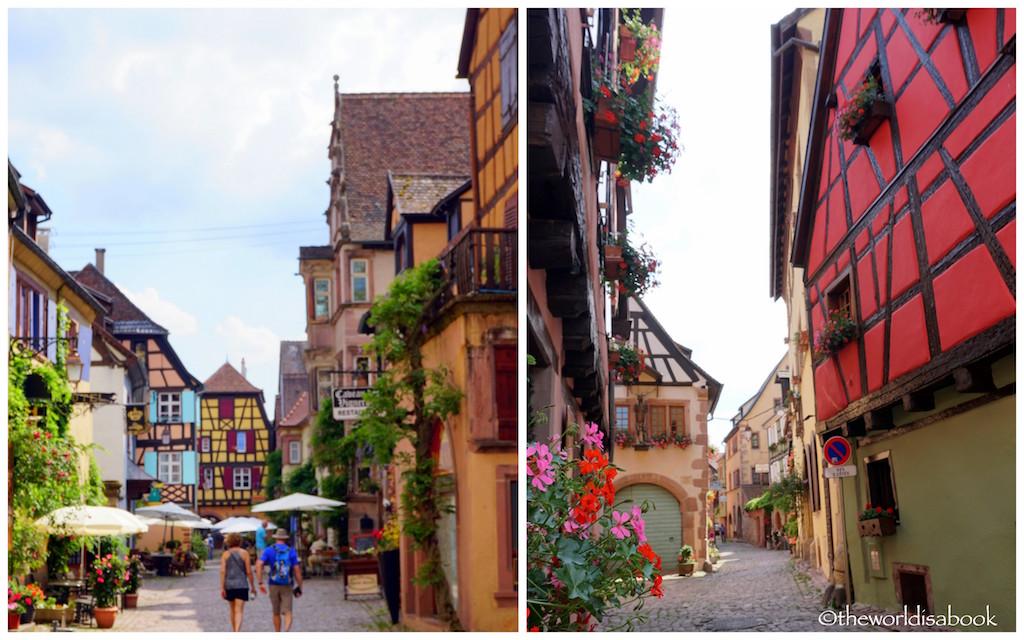 Riquewihr colorful streets Alsace