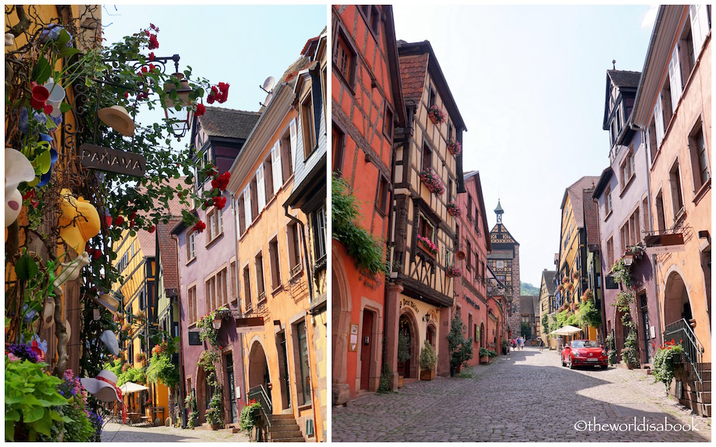 Riquewihr colorful streets