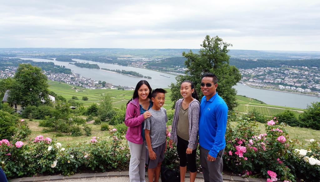 Germany Neiderwald Monument with kids