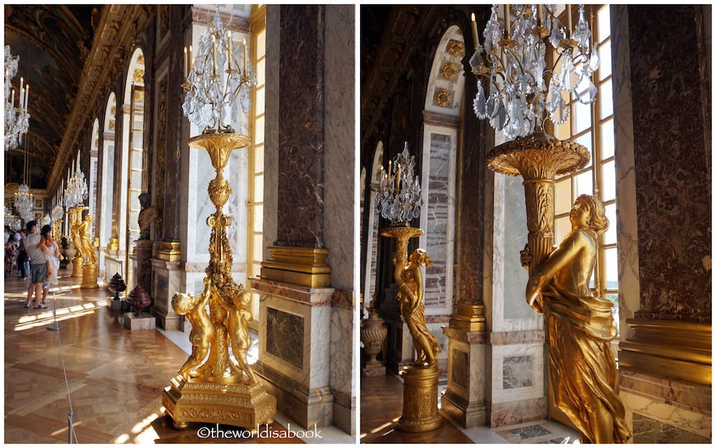 Versailles Hall of mirrors sculptures