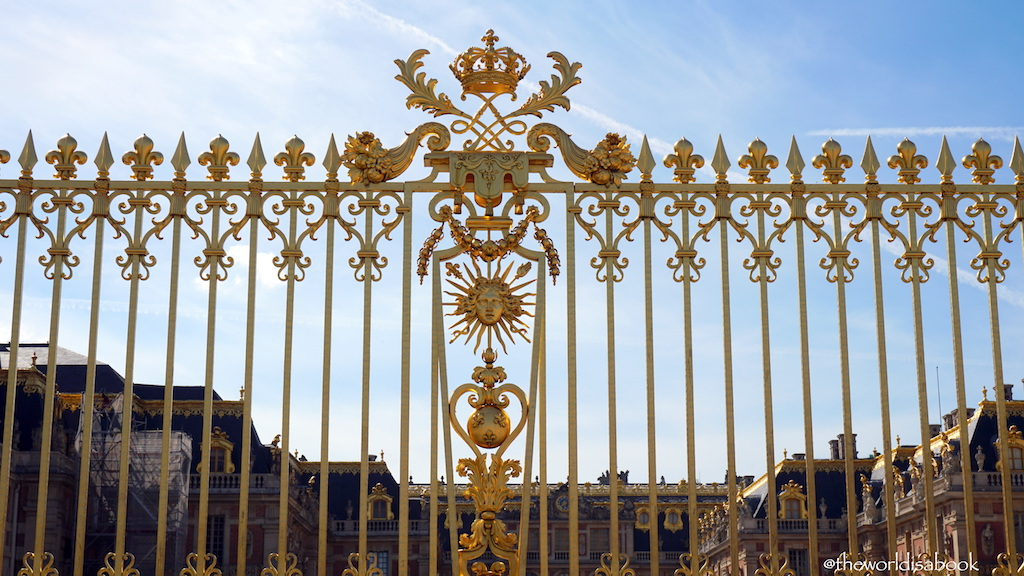 Versailles golden fence
