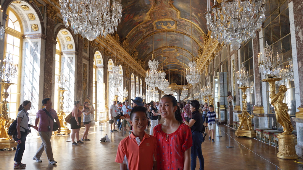 Versailles with kids Hall of Mirrors