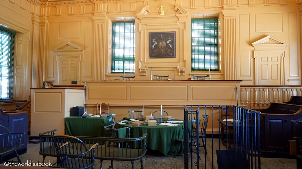 Independence Hall Philadelphia courtroom
