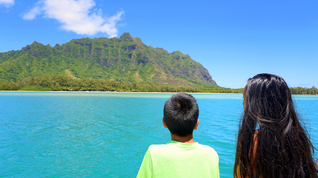 Kualoa Ranch Catamaran Tour with kids