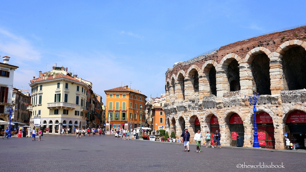 Piazza Bra Verona with kids