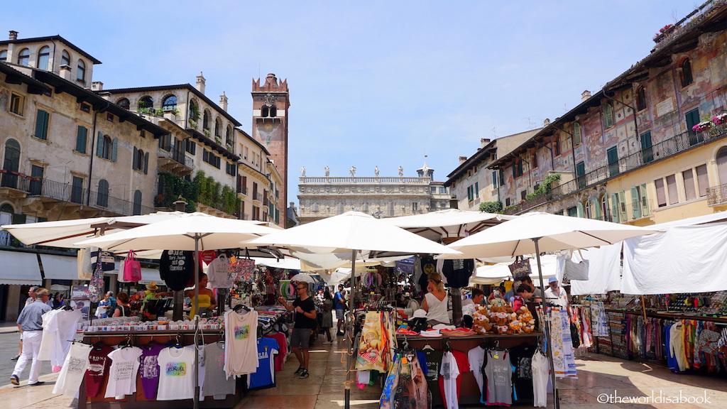 Piazze delle Erbe market Verona
