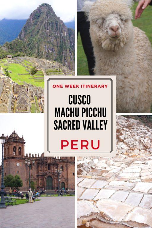 ONE WEEK PERU ITINERARY