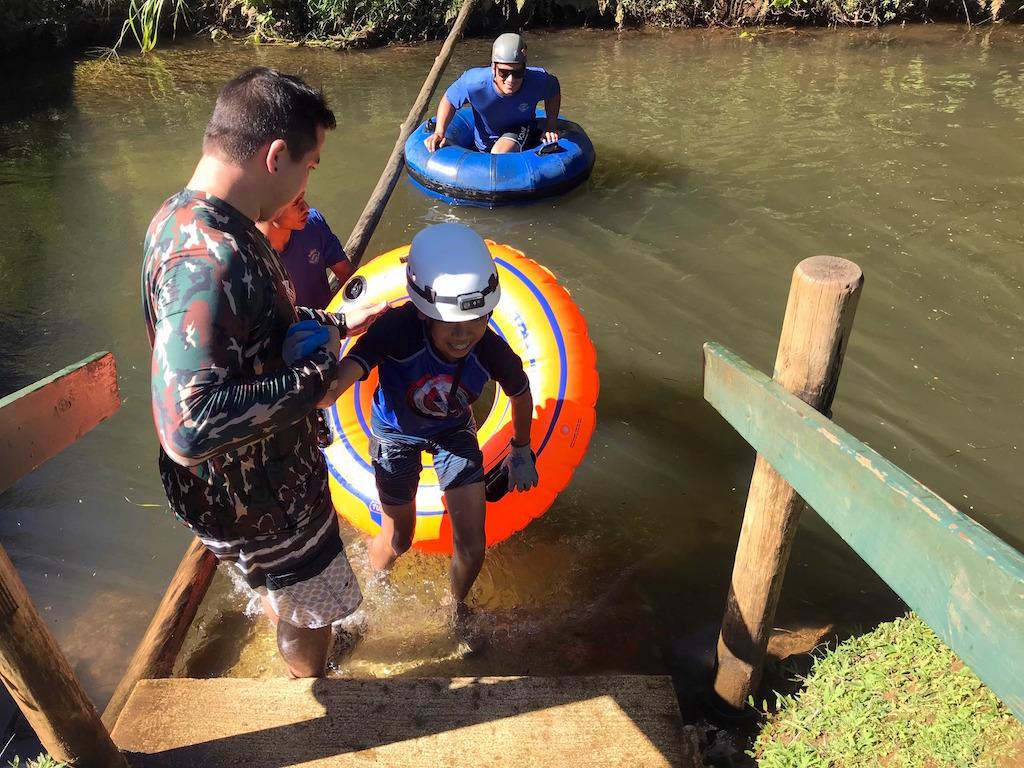 Tubing with Kids Kauai