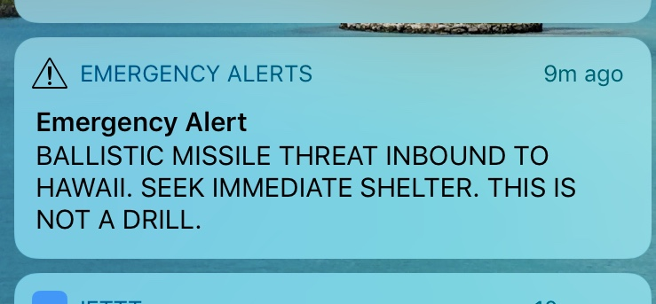 Hawaii False Missile Alert