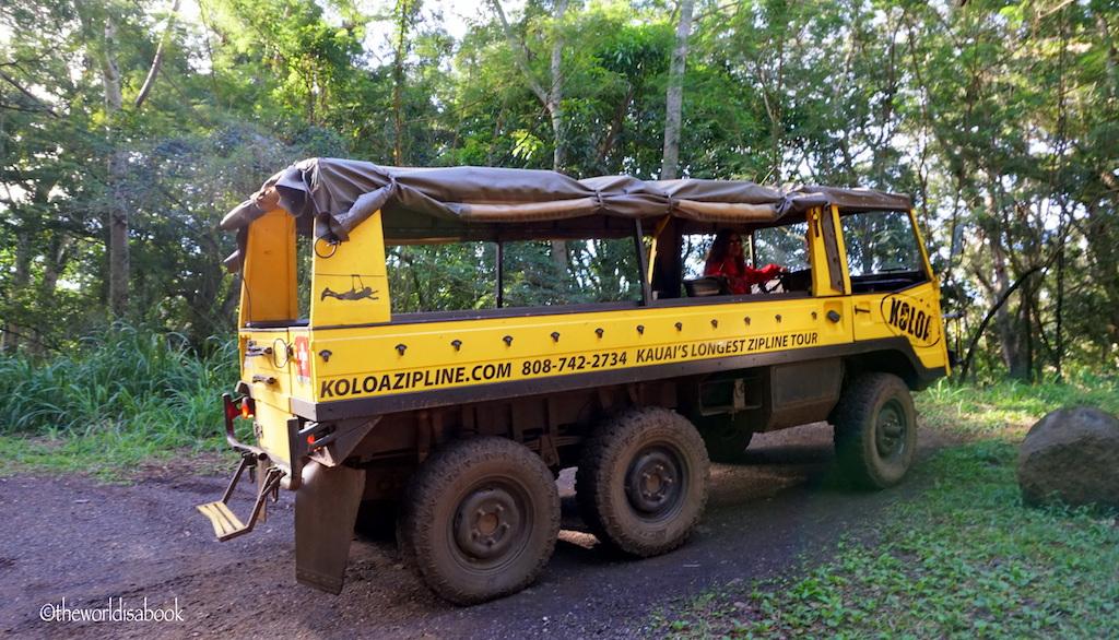 Koloa Zipline truck